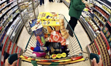 Christmas Shoppers Inside A Morrisons Supermarket