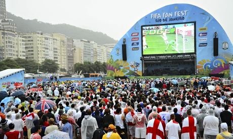 Fans watch England