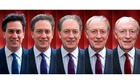Photomontage of Ed Miliband merging with Neil Kinnock,