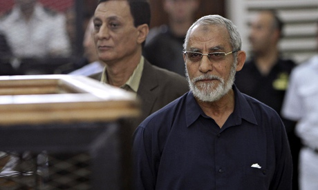 Mohamed Badie and 182 Muslim Brotherhood members have been sentenced to death.