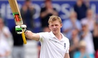 England's Sam Robson reacts after reaching his maiden Test century