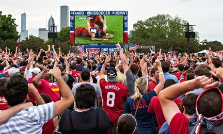 USA fans in Chicago