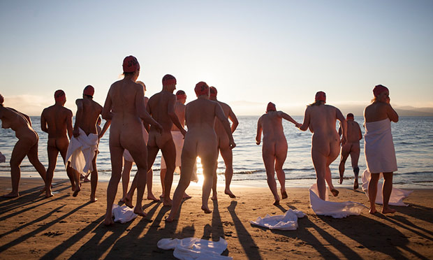 Naked swim at Dark Mofo