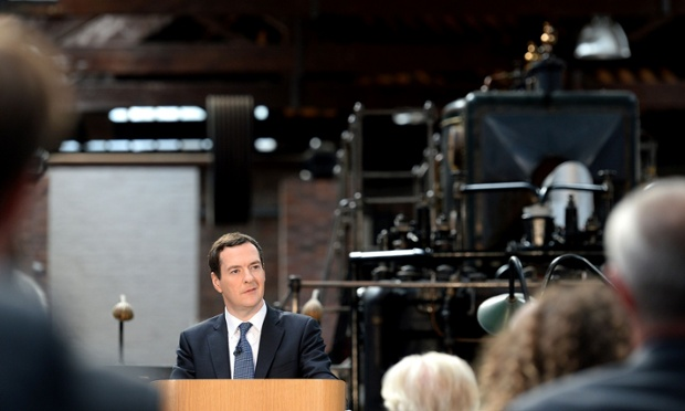 George Osborne delivering his Northern Powerhouse speech at Museum of the Science and Industry in Manchester.