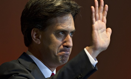Labour Party leader Ed Miliband makes a speech during the GMB union conference in Nottingham earlier