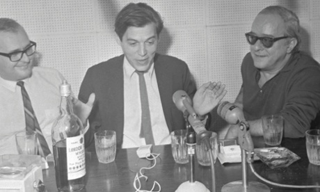 Antonio Carlos Jobim (c) and Vinicius de Moraes (r), the composers of The Girl from Ipanema, being interviewed in 1967, fuelled by cigarettes and whisky. Having actually referenced Águas de Março, a picture of Tom with Elis Regina would have been better, but this will have to do.