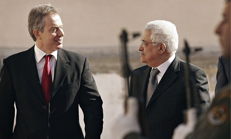 Tony Blair and Mahmood Abbas