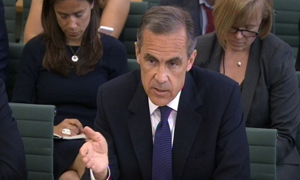 Governor of the Bank of England Mark Carney gives evidence to the Treasury select committee.