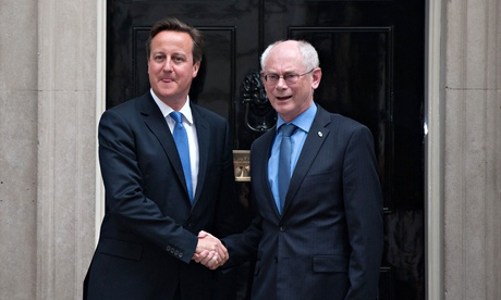 David Cameron meets Herman Van Rompuy