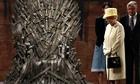 Britain's Queen Elizabeth visits the Game of Thrones set