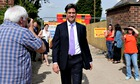 Ed Miliband visiting a newly built council housing complex in Lincoln in May 2014