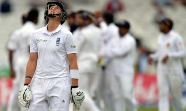 England's Joe Root after being dismissed against Sri Lanka.