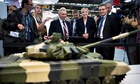 The Front National leader Marine Le Pen at a recent arms fair.