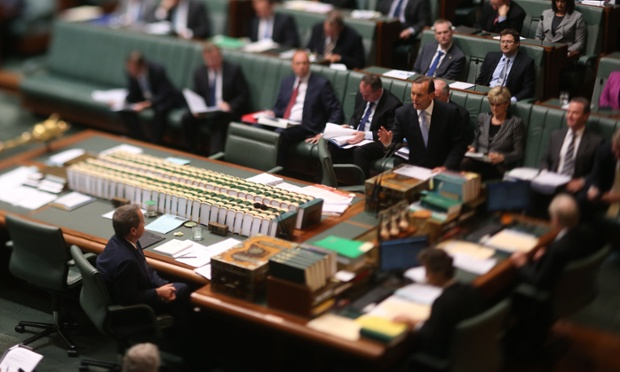 Carbon tax repeal remains top of mind in parliament today.