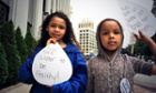 Children in Detroit attending a rally against water shut-offs in the city on June 20, 2014.