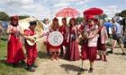 Gaia's Guardians tour the Glastonbury site