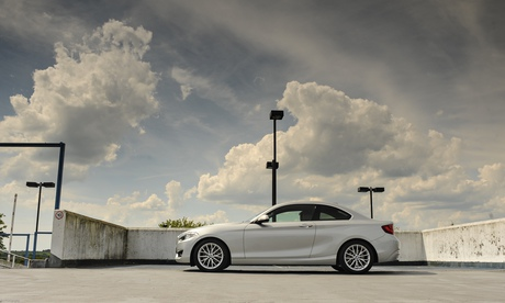 On the road:  BMW 220D SE coupe