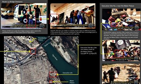 Human Right Watch map of Isis execution site