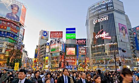 The Shibuya crossing in Tokyo