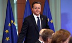 Britain Prime minister David Cameron at a European meeting