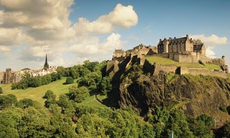 Glorious Edinburgh Castle, as viewed from Princes Street.
