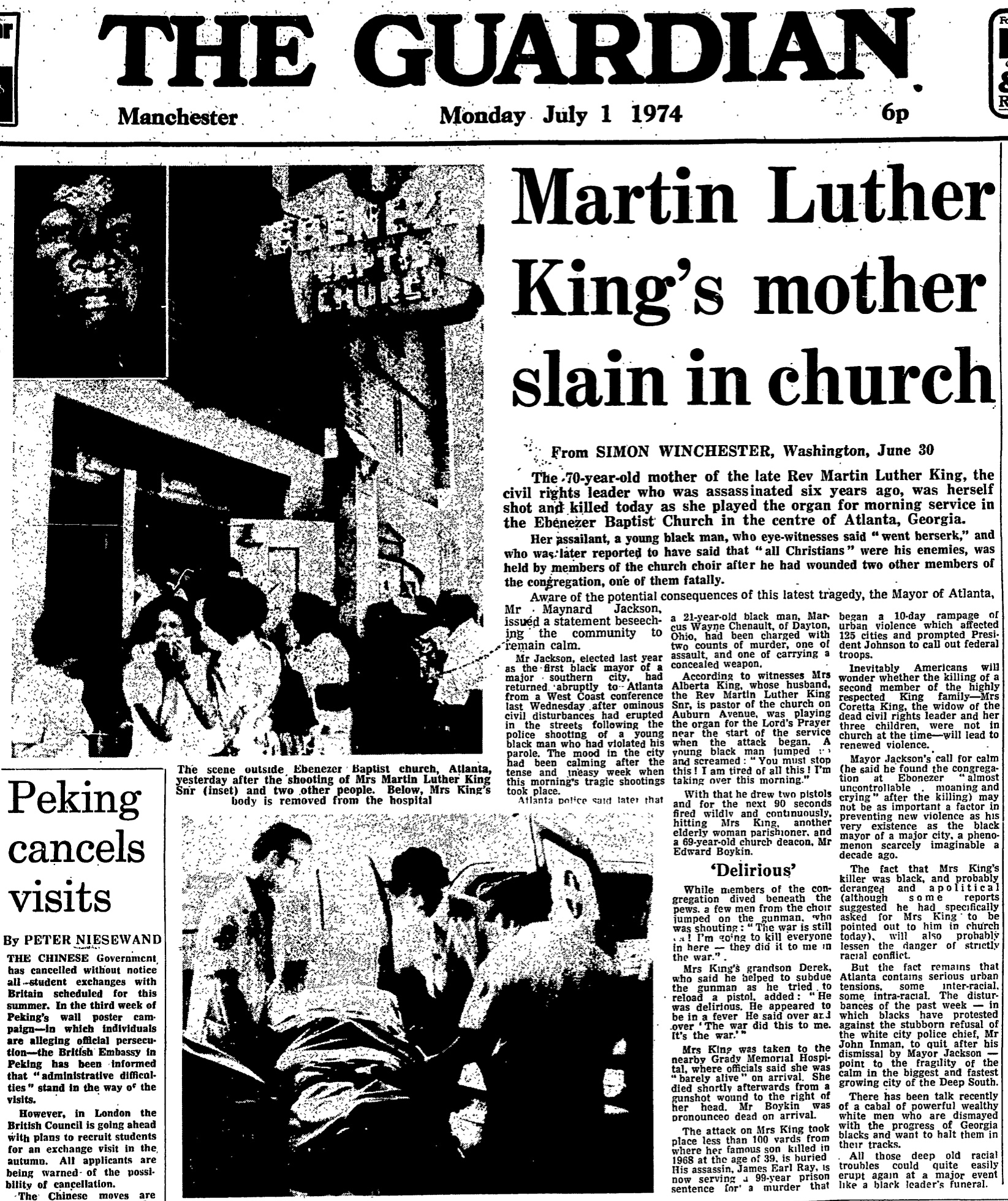 Image result for assassination of mother of martin luther king