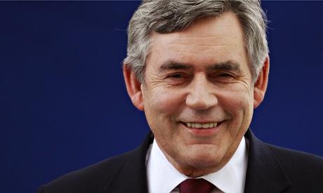 Gordon Brown smiling