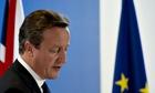 David Cameron at the European council