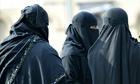 Muslim women in traditional dress