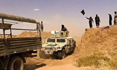 Isis troops purportedly crossing Syria-Iraq border