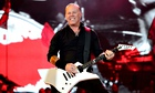 James Hetfield of Metallica on stage at Glastonbury on Saturday night.