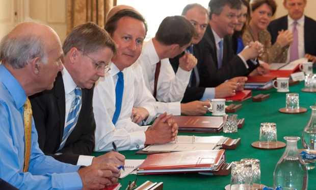 David Cameron chairing a cabinet meeting in 2012. Today the cabinet is being briefed on the Queen's Speech.