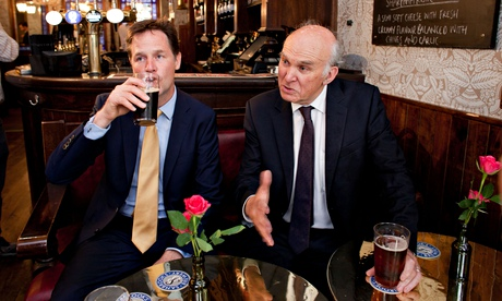 Clegg and Cable in pub