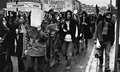 An Angry Brigade march in north-west London in 1972.