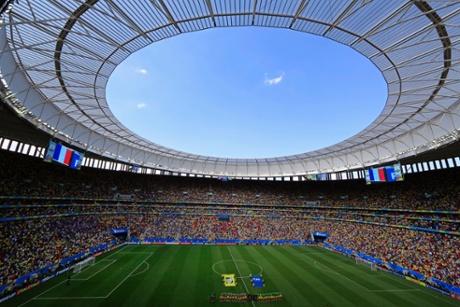 How the Estádio Nacional Mané Garrincha looks before kick off in Brasilia.