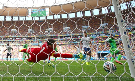 Emmanuel Emenike puts the ball in the back of the net...