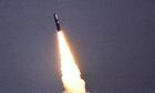 Trident missile test firing