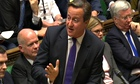Tory frontbench look on as David Cameron discusses Juncker's appointment