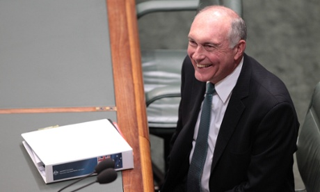 Deputy Prime Minister Warren Truss during house of representatives question time at Parliament House in Canberra, Wednesday June, 4, 2014.