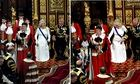 Pageboy faints at Queen's speech