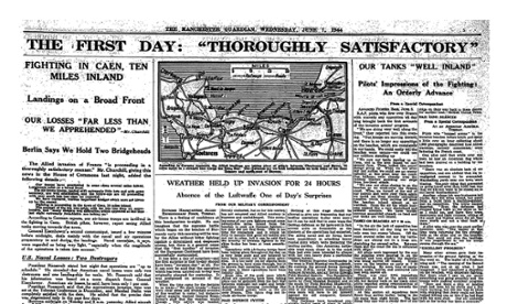 The Manchester Guardian's report on D-day, 7 June 1944.