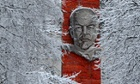 A monument to the Soviet Union founder Vladimir Lenin at a railway station outside Moscow in 2013.