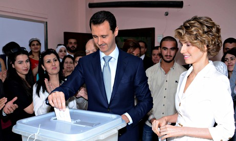 Bashar al-Assad wins re-election in Syria as uprising against him rages on