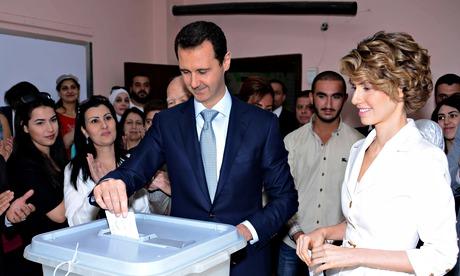 Bashar al-Assad wins re-election in Syria as uprising against him rages on