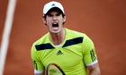 Great Britain's Andy Murray celebrates during his quarter final match