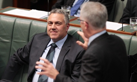 Treasurer Joe Hockey during house of representative question time at Parliament House in Canberra, Thursday June, 5, 2014.
