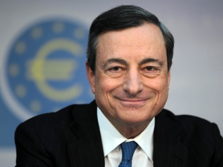 President of the European Central Bank (ECB), Mario Draghi, attends an ECB press conference at the bank's headquarters in Frankfurt am Main, Germany on June 5, 2014.