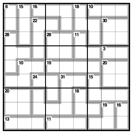 Killer Sudoku 8th June 2014