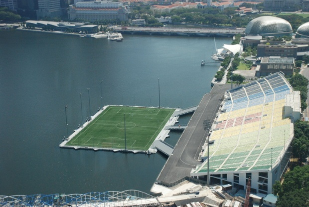The Float at Marina Bay, Singapore is the world's largest floating football stadium