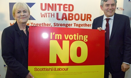 Scottish Labour leader Johann Lamont and Gordon Brown in Edinburgh